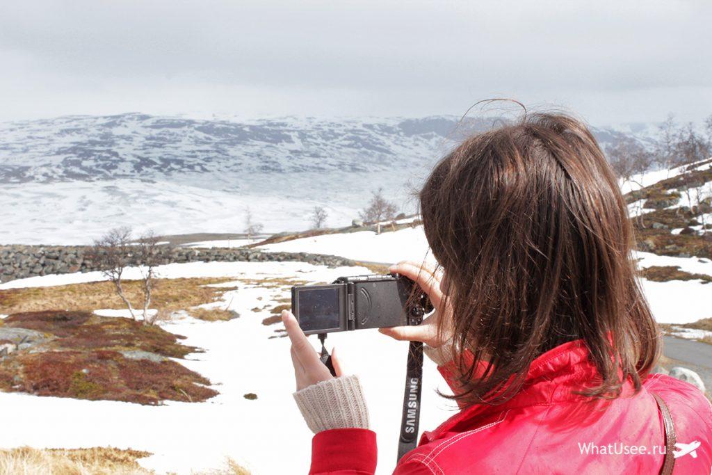 Дорога по Хардангервидда в Норвегии
