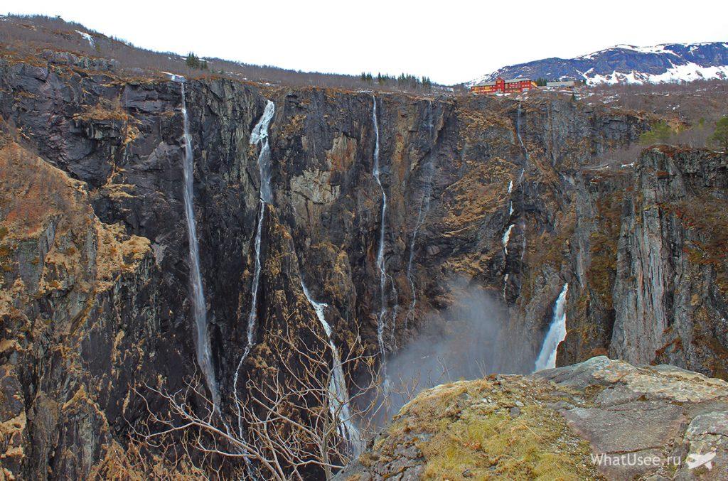 Водопад Верингфоссен в Норвегии