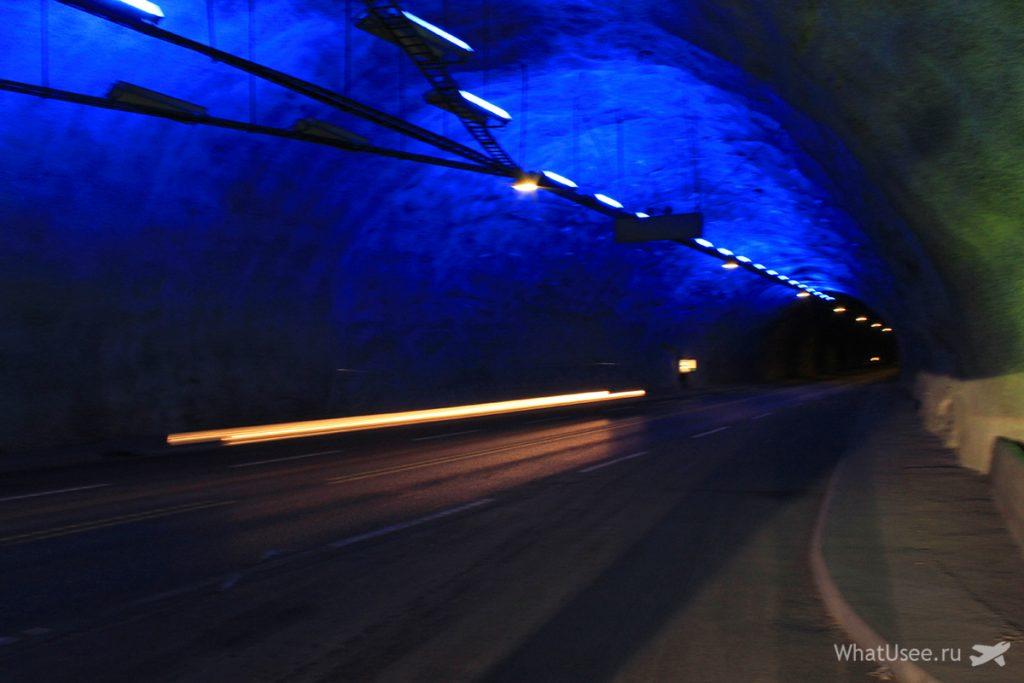 Лердальский тоннель в Норвегии