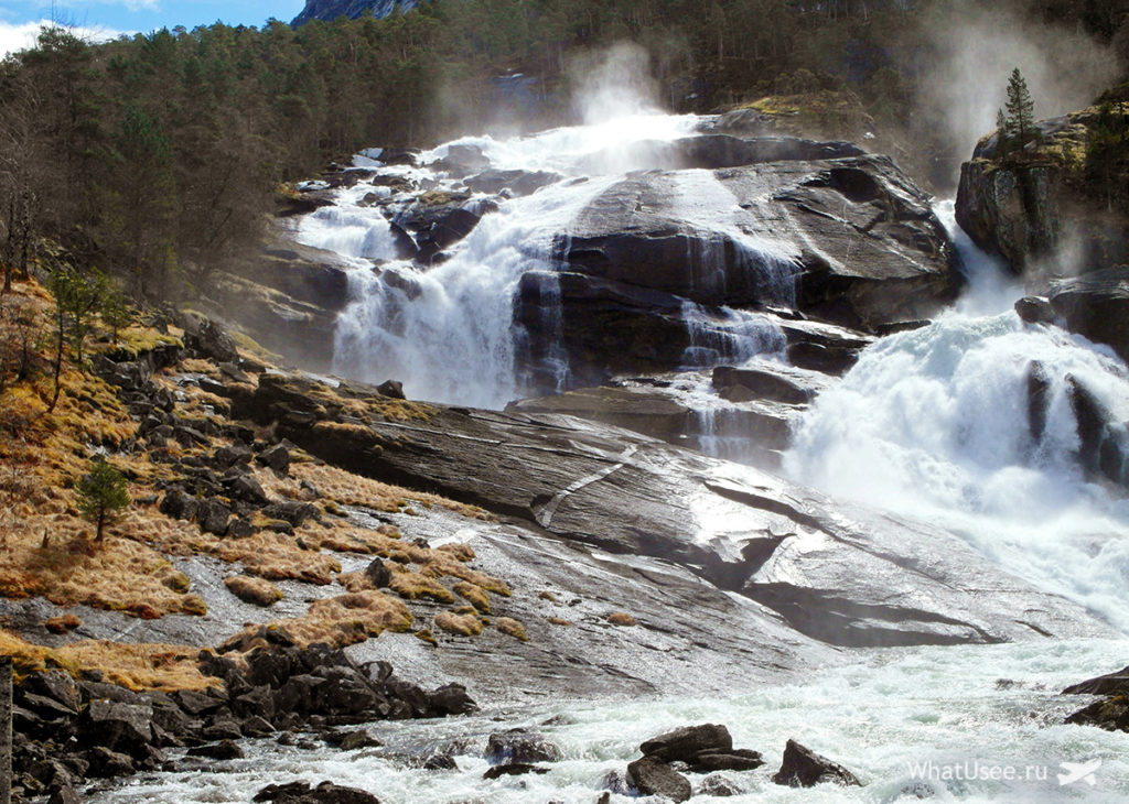 Водопад Твейтафоссен в Норвегии