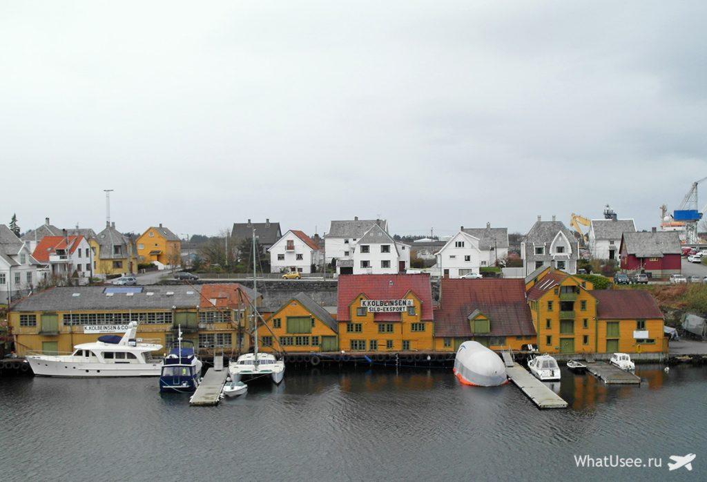Город Хёугесунн в Норвегии
