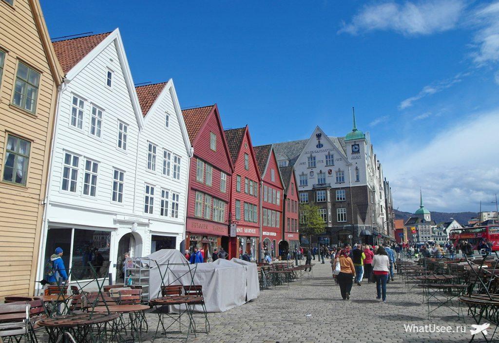Набережная Брюгген в норвежском Бергене