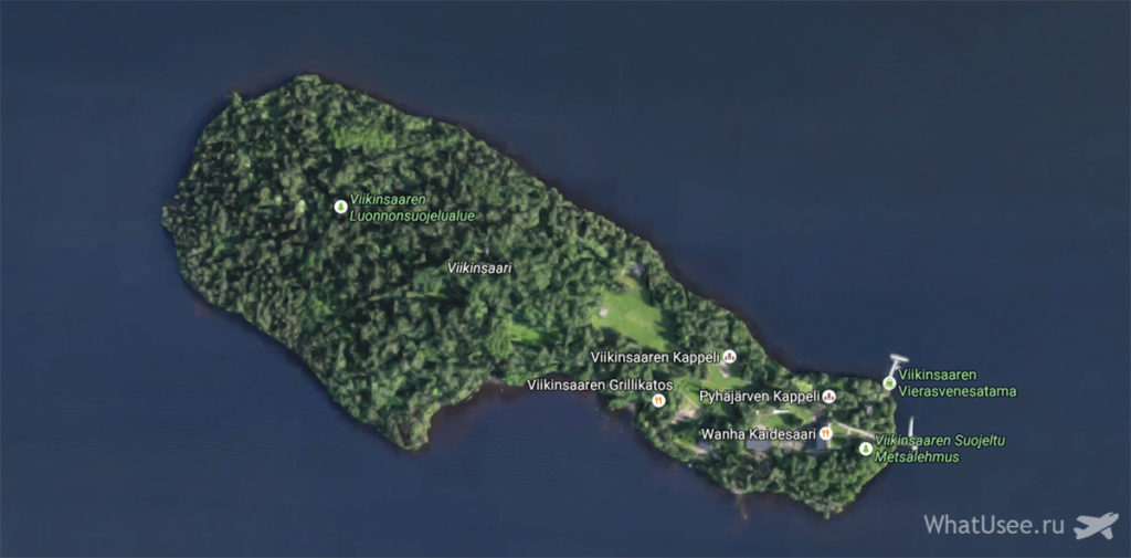 Карта острова Виикинсаари