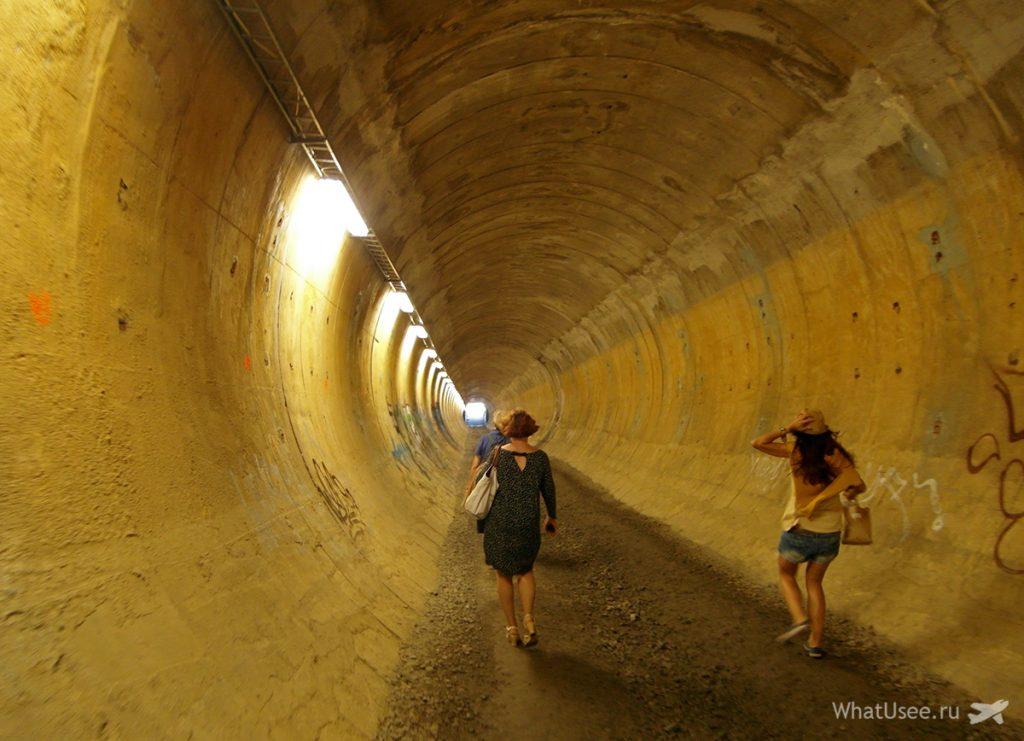 Тоннель в Писпала