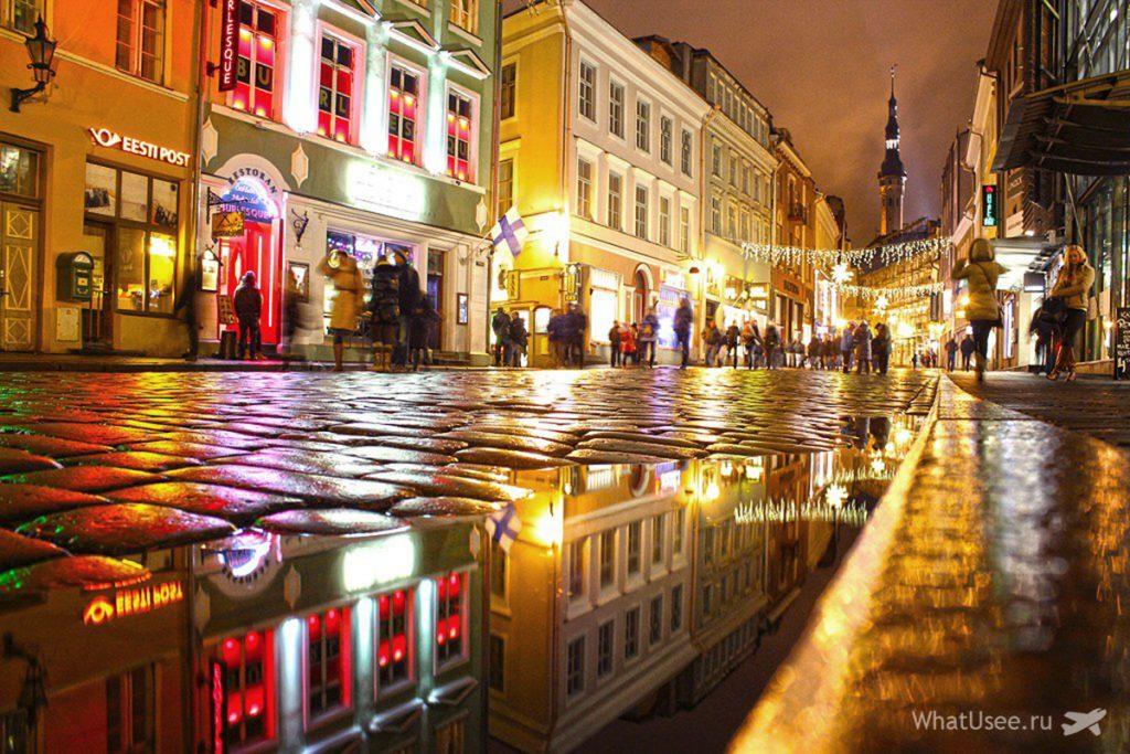 Старый Таллин ночью