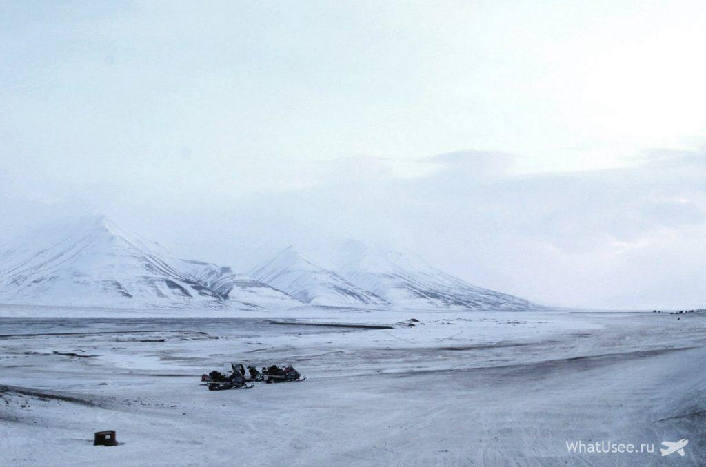 На снегоходе по Шпицбергену