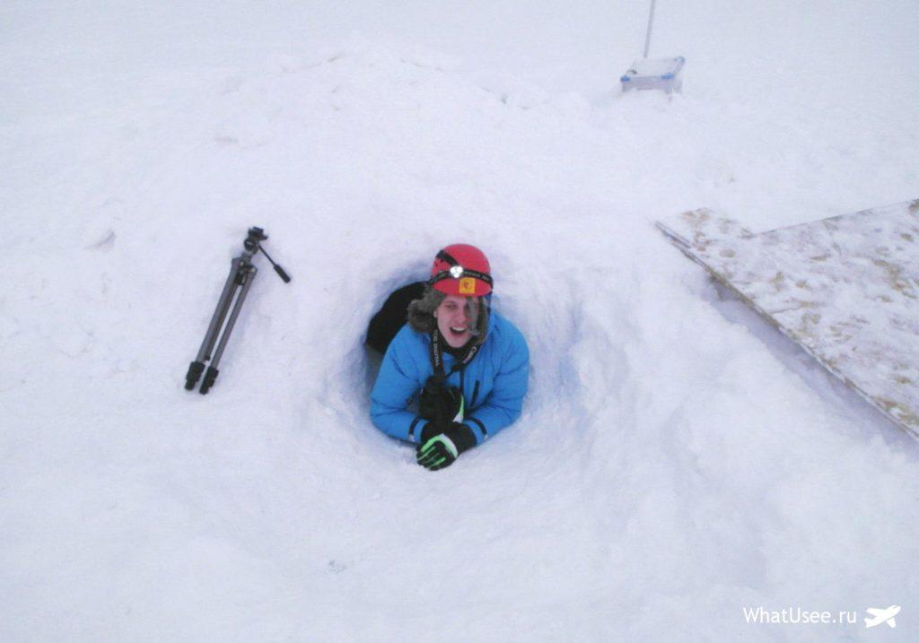 Посещение ледника на Шпицбергене