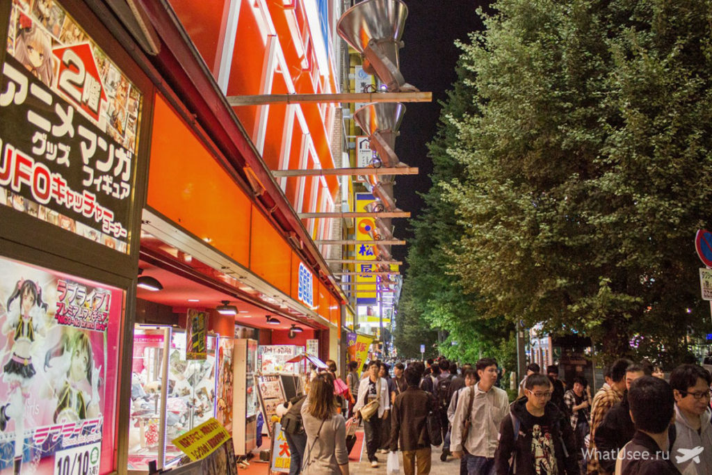 Район Акихабара в Токио