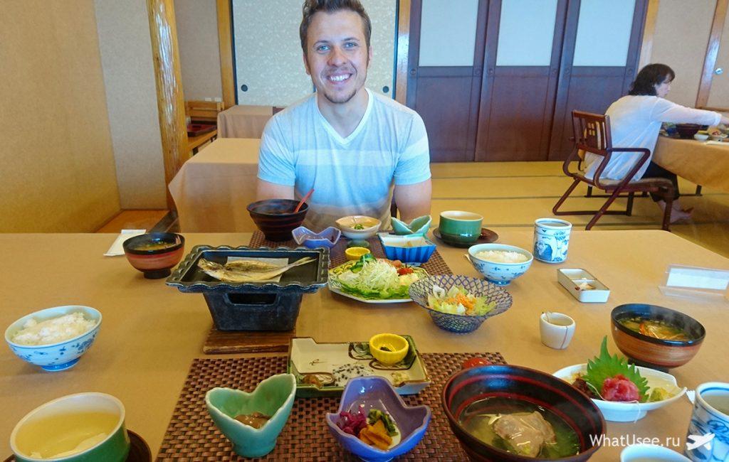 Завтрак в японском рёкане