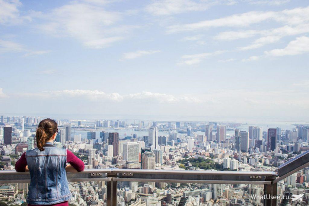 Вид на Токио со смотровой плошадки на Роппонги