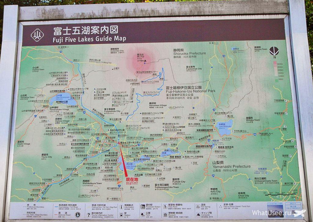 Карта Хаконэ