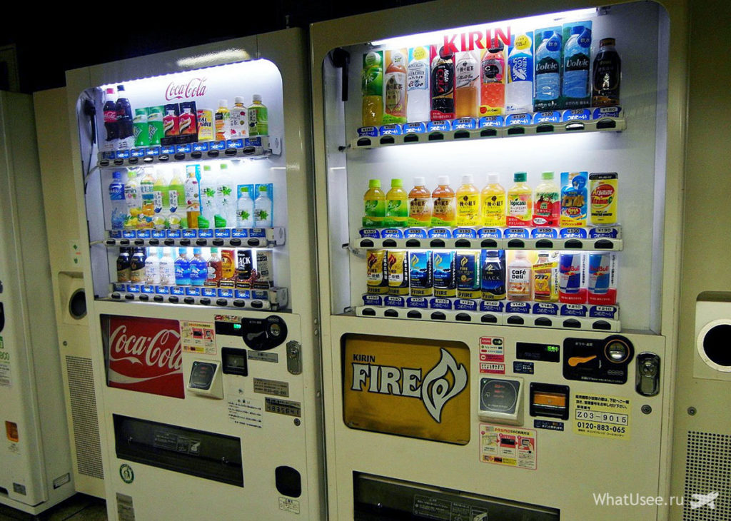 Автоматы с напитками в Японии