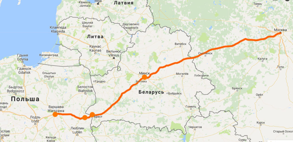 Автостопом из Минска в Варшаву зимой