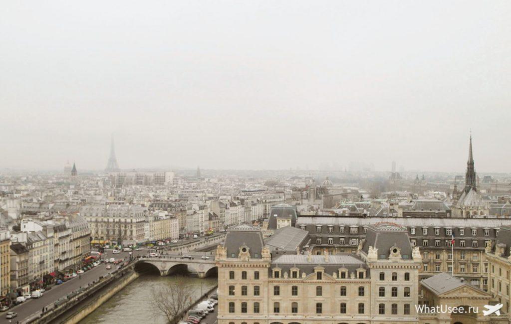 Вид с собора Парижской Богоматери