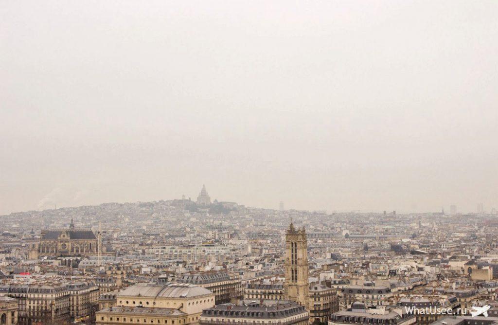 Вид на Париж с Нотр-Дама