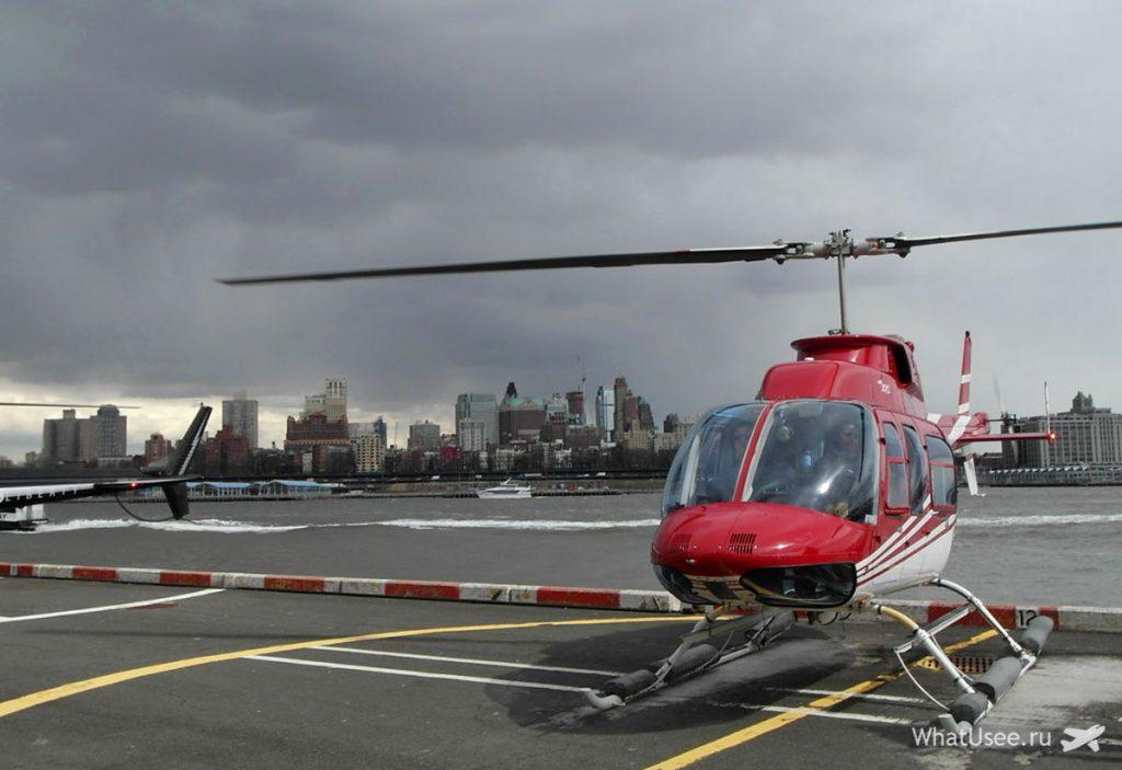 На вертолёте над Нью-Йорком