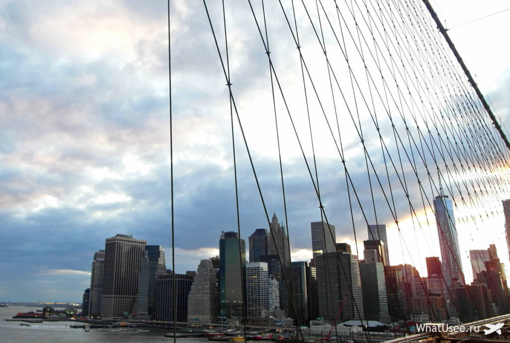 Бруклинский мост в Нью-йорке фото
