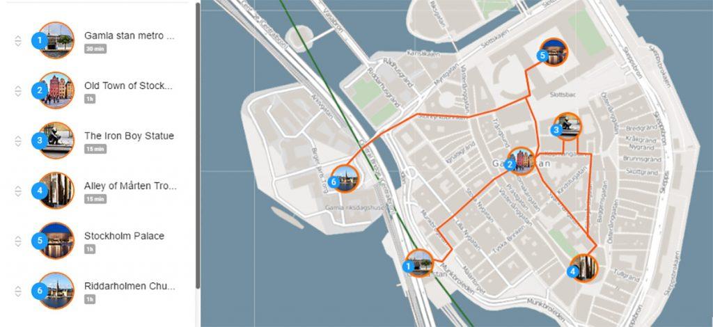Маршрут самостоятельной прогулки по Стокгольму