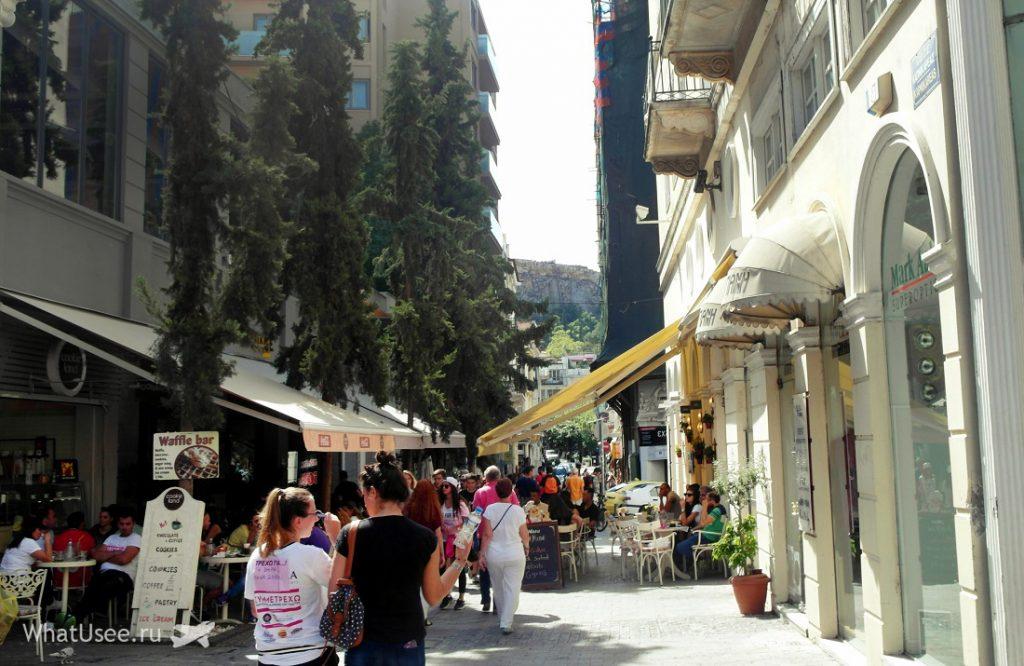 Дорога к Акрополю в Афинах
