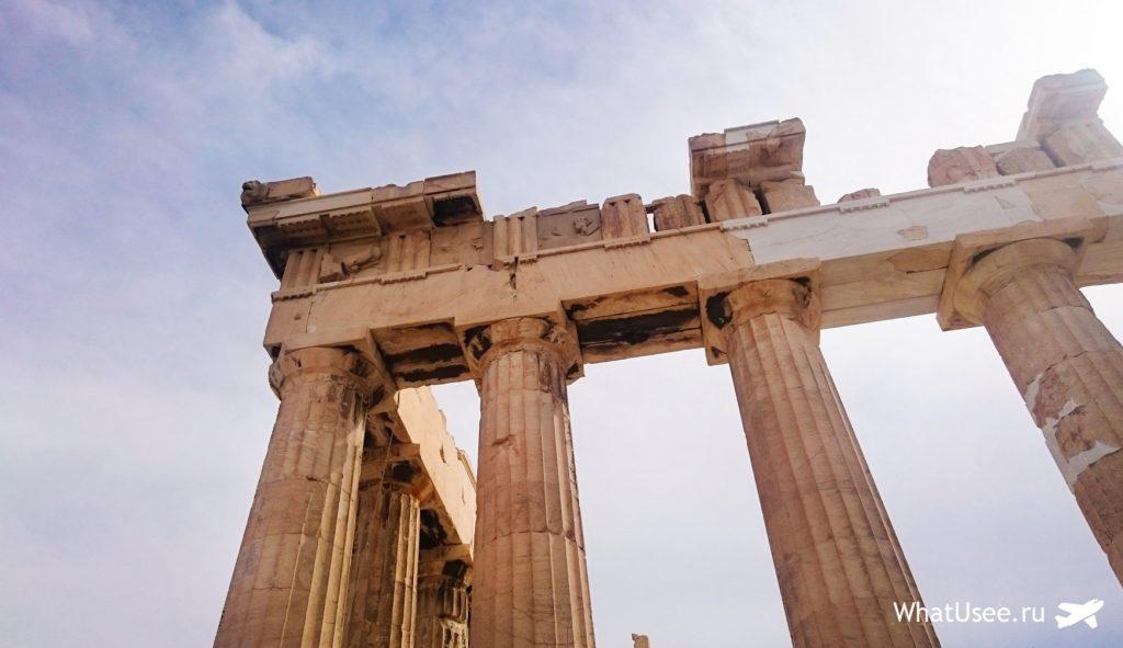 Парфенон в Афинах в Акрополе