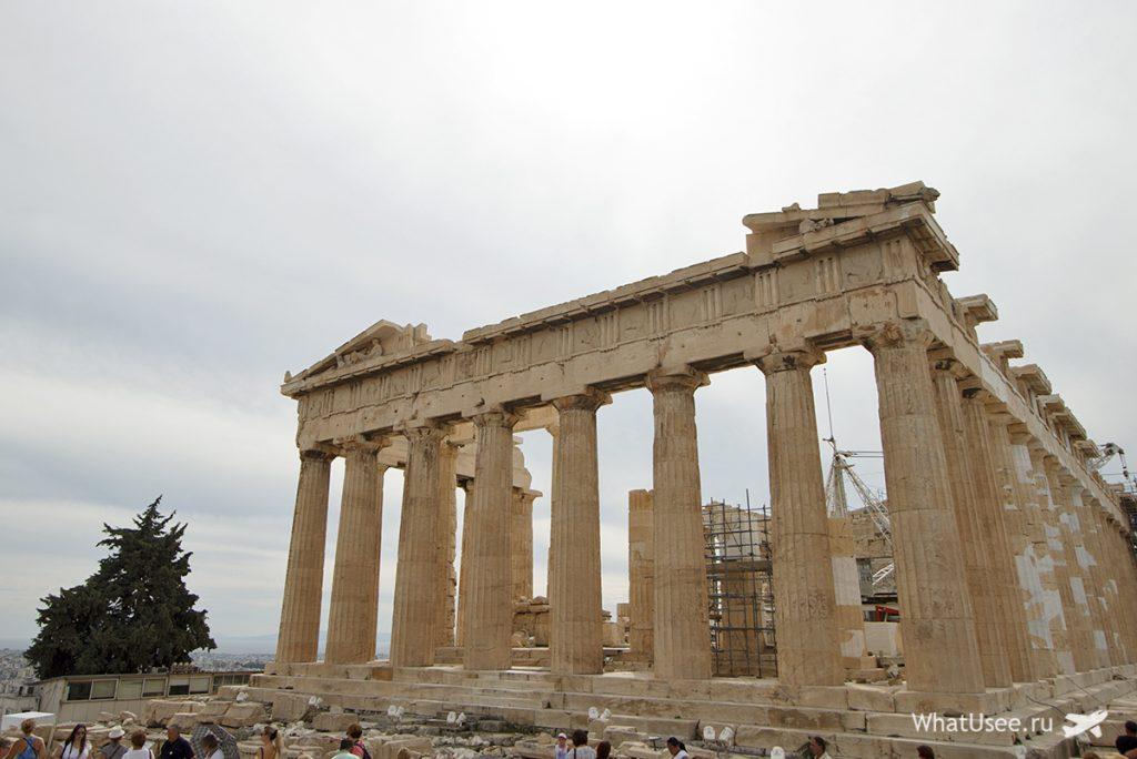 Парфенон в Афинах самостоятельно