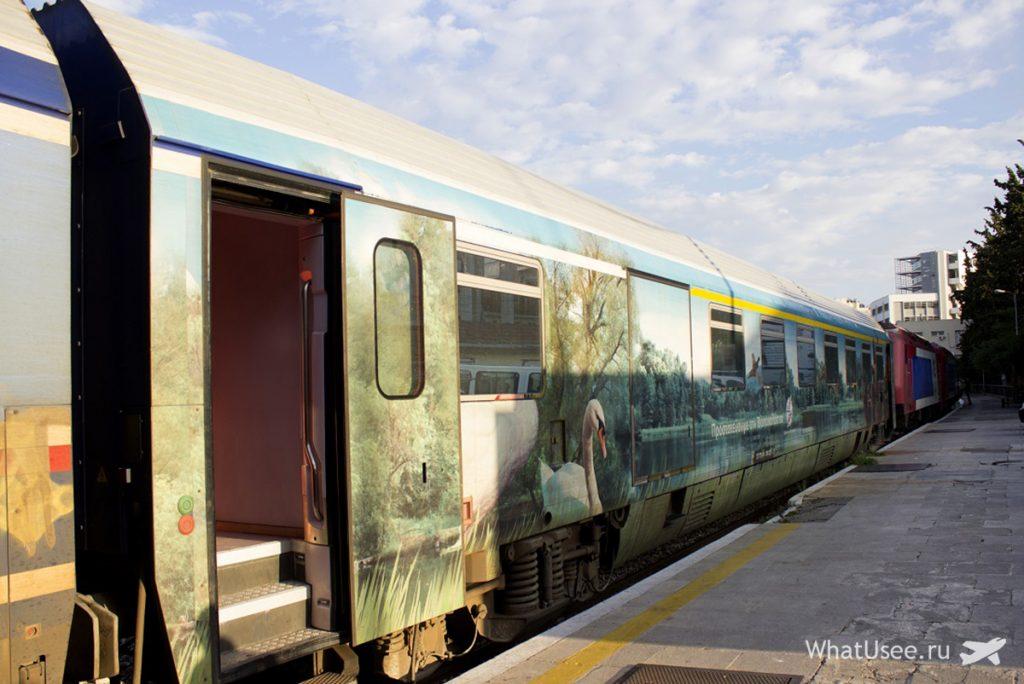 Поезд Афины-Метеоры