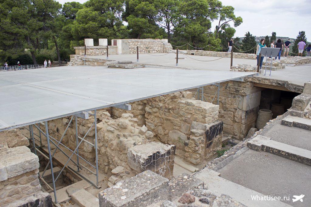 Посещение Кносского дворца на Крите