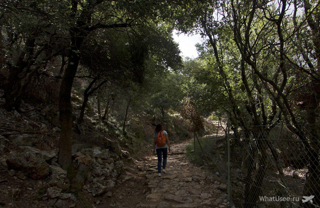 Маршрут к пещере Зевса на Крите