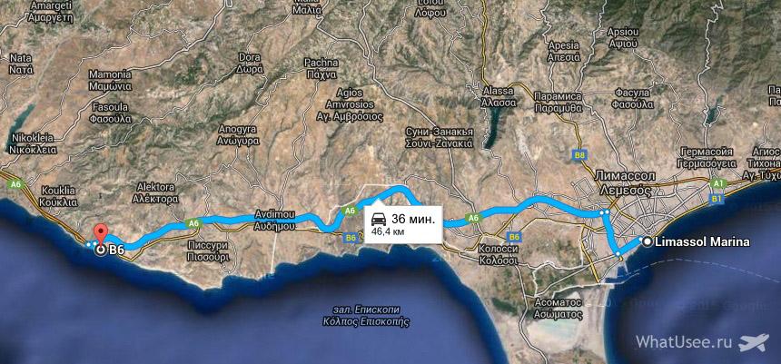 Бухта Афродиты на карте Кипра, как добраться