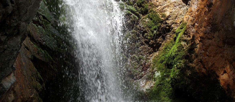Троодос, Кипр: водопад Милломерис