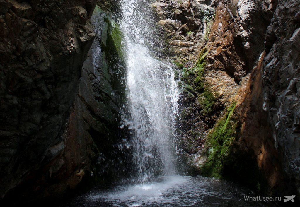 Кипр: водопад Милломерис. Красивые места Кипра