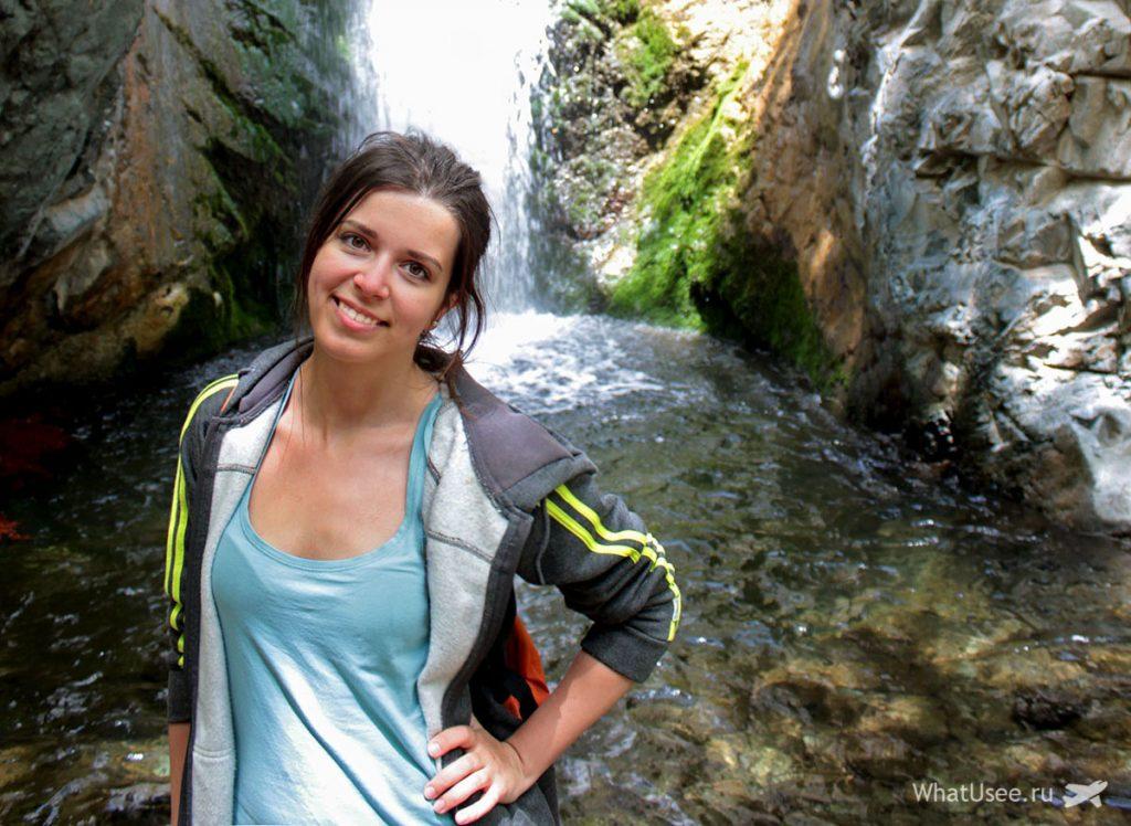Водопад Милломерис на Кипре