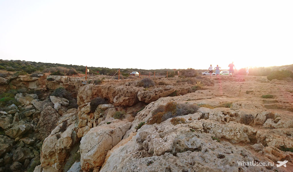 Закат на Кипре на мысе Каво Греко
