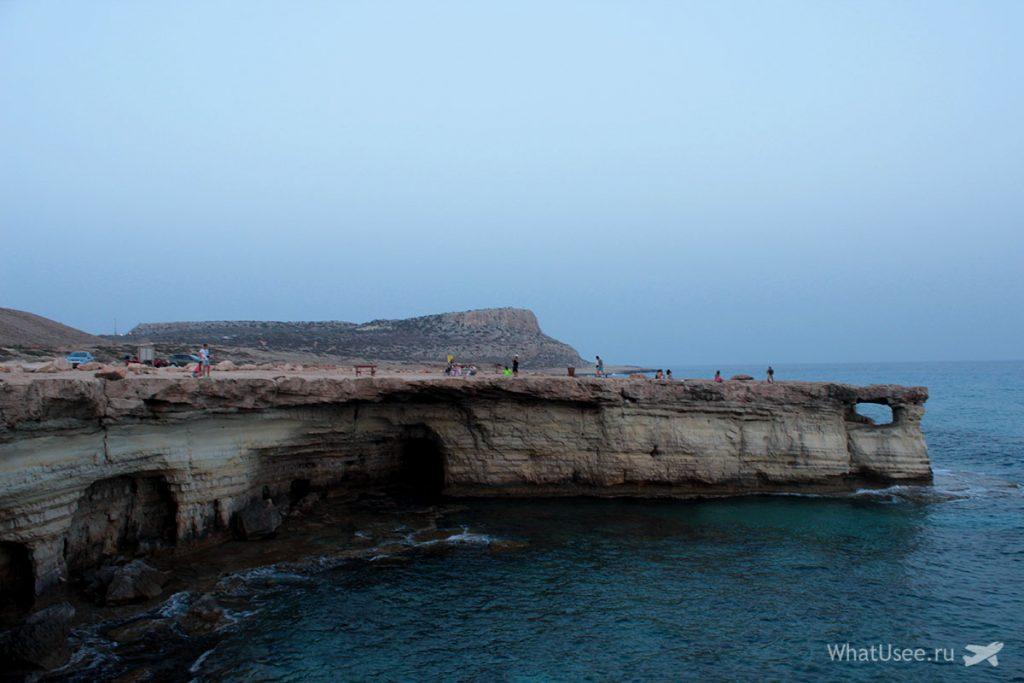 Поездка к морским пещерам на Кипре