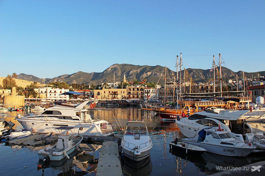 Старый порт в Кирении на Северном Кипре