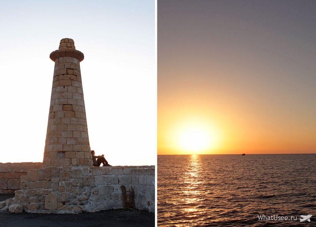 Закат на Северном Кипре