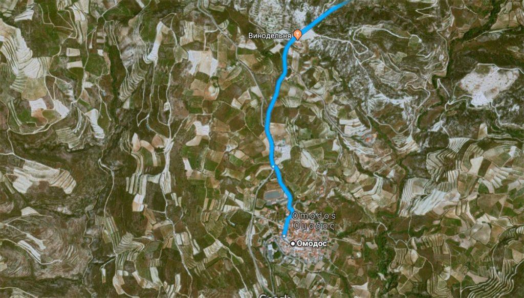 Где находится деревня Омодос