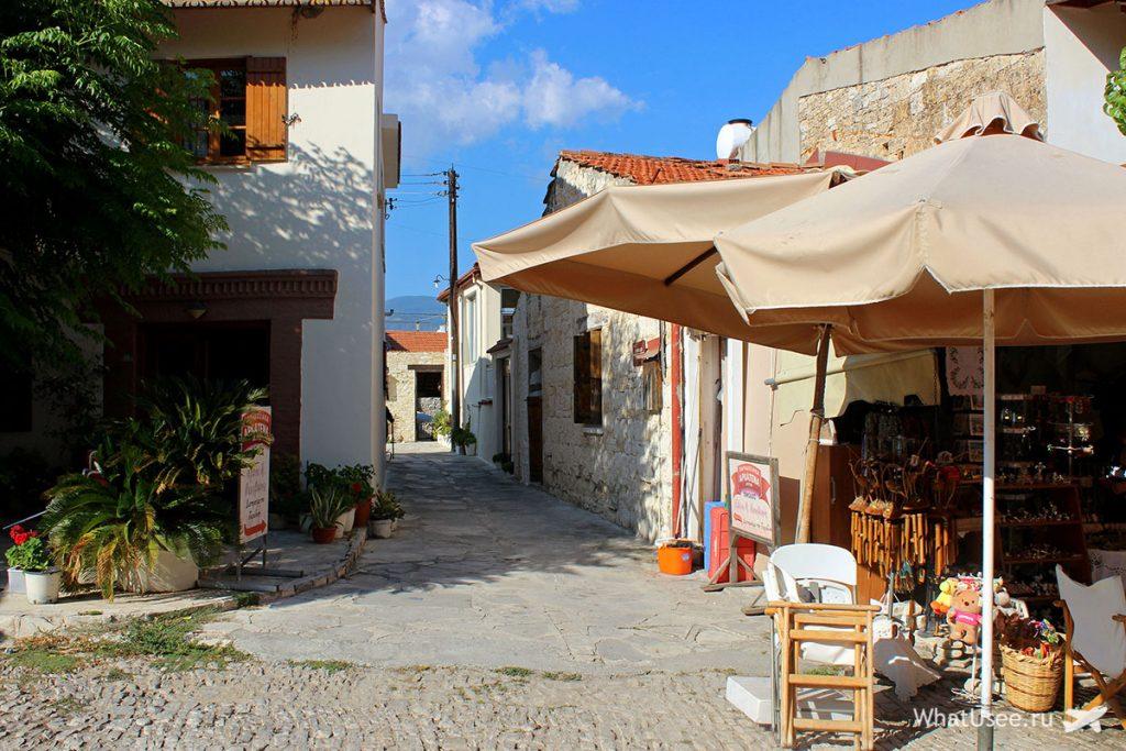 Деревня Омодос на автомобиле