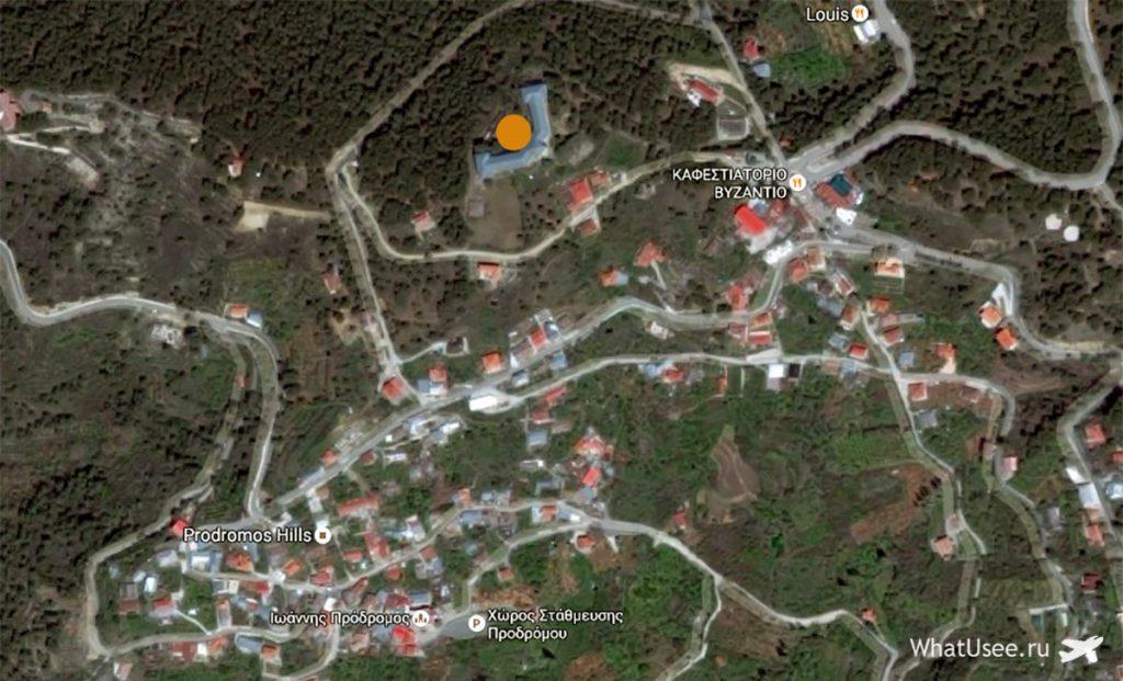 Отель Беренгария на карте Продромоса на Кипре