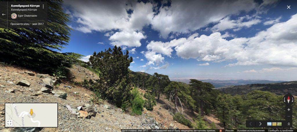 Гора Олимбос на Кипре на машине