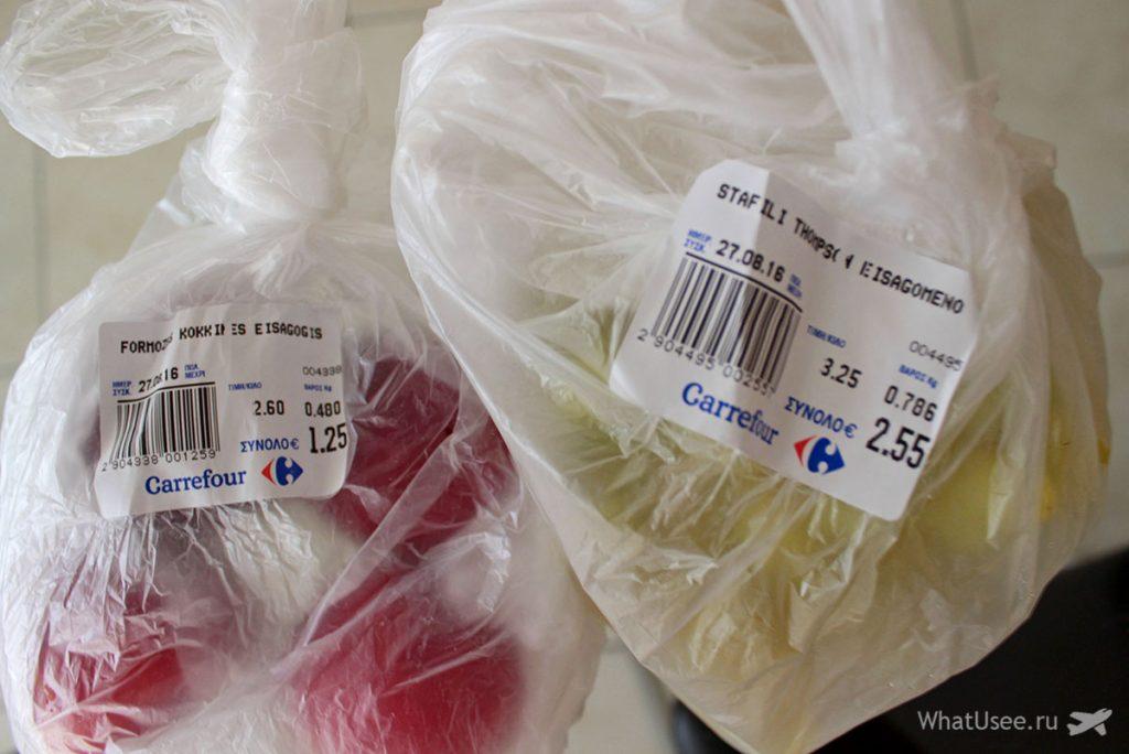 Цены на фрукты на и овощи на Кипре