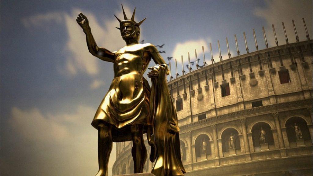 Статуя Нерона перед Колизеем