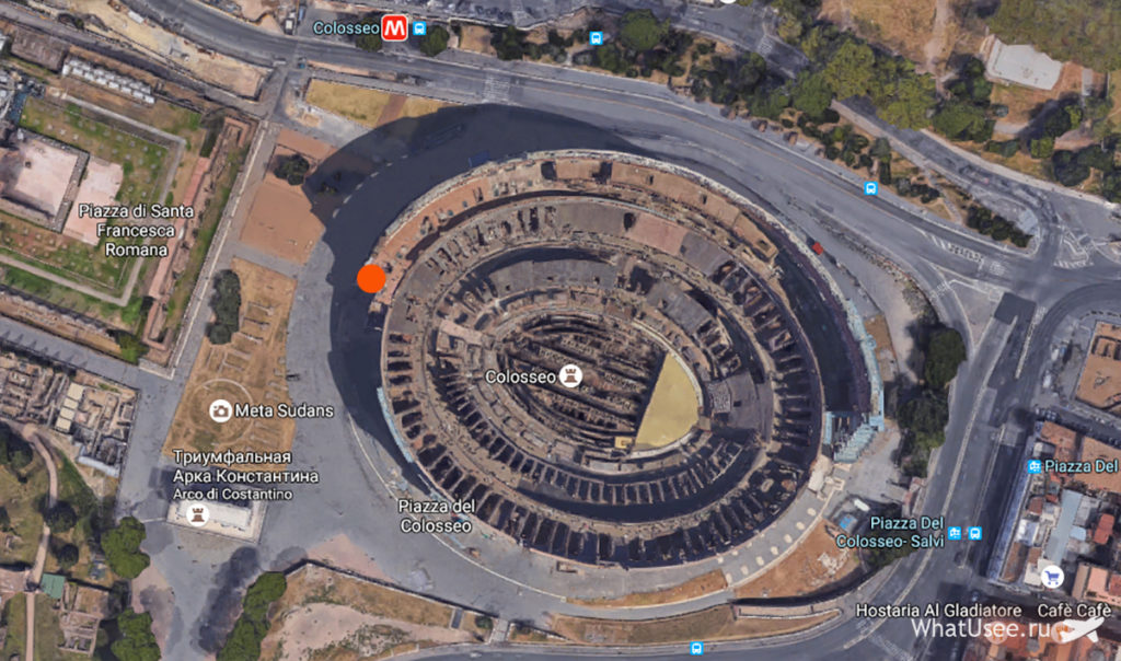 Колизей на карте
