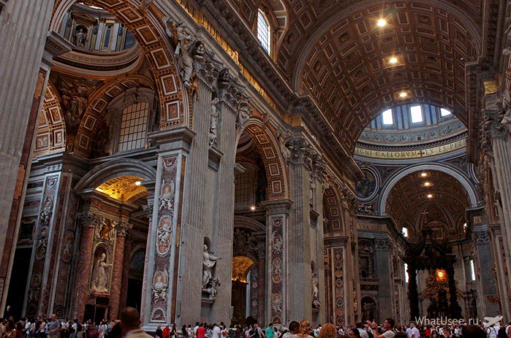 Внутри собора в Ватикане