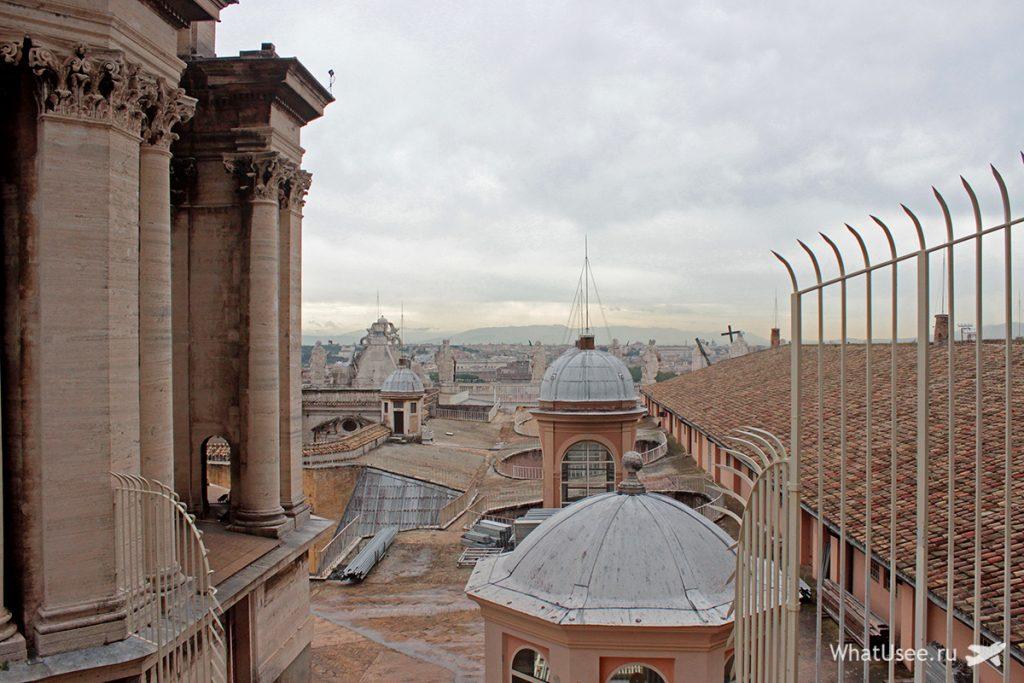 Подъём под купол Святого Петра в Ватикане