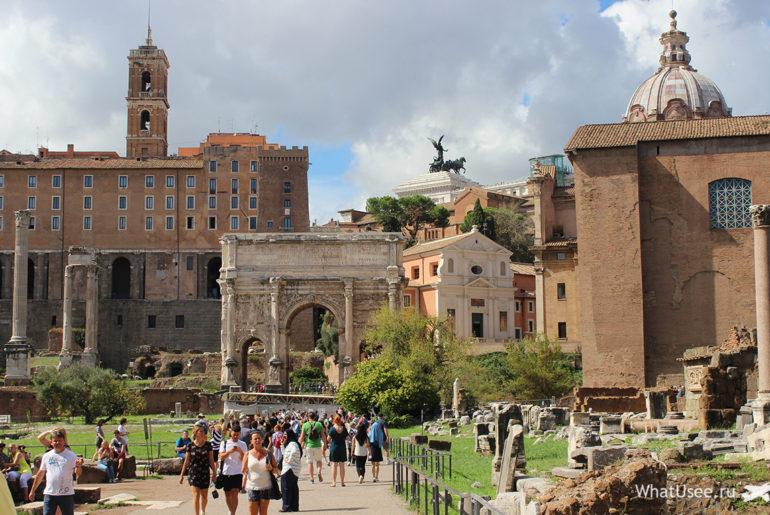 Римский Форум, Палатин и Колизей
