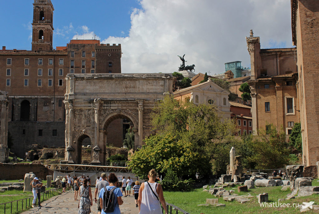 Римский Форум, Палатинский холм и Колизей в Риме