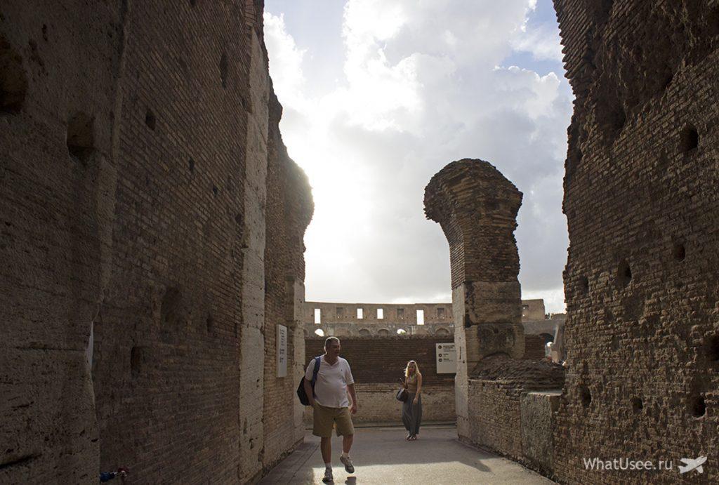 Посещение Колизея в Риме