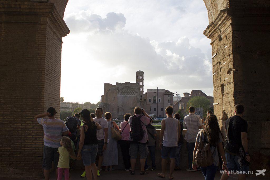 В римском Колизее