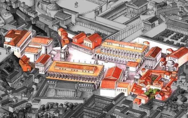 Карта римского Форума период расцвета Римской Империи